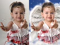 Our expert photo retouching and photo alteration services can convert your images into impressive-looking masterpieces. We can proficiently convert photos into paintings, pencil sketches or cartoons, add persons to groups, edit red eye, change the eye col